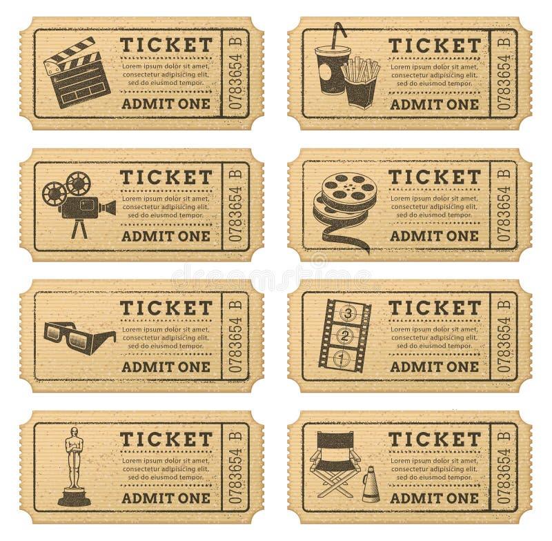 Download Vector Grunge Cinema Tickets Stock Vector - Image: 40858030