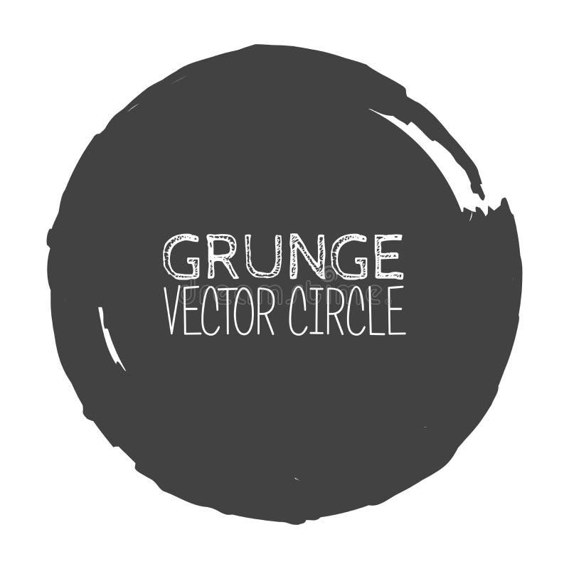 Vector Grunge Circle. Element for your Design. Rubber Stamp Texture. Distress Border Frame stock illustration