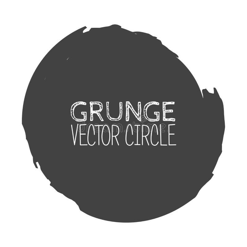 Vector Grunge Circle. Element for your Design. Rubber Stamp Texture. Distress Border Frame vector illustration
