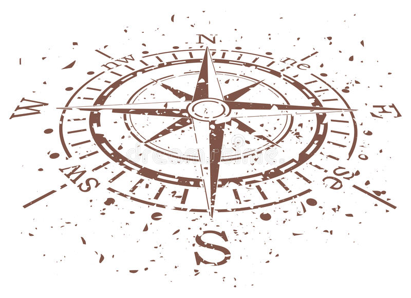vector grunge compass royalty free illustration
