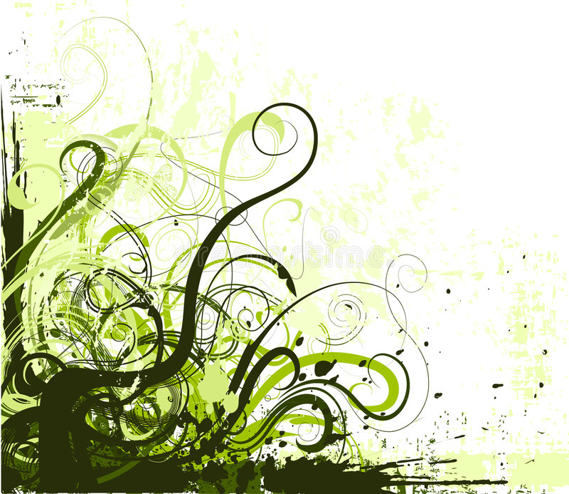 Vector grunge corner. Grunge design element for corner decoration stock illustration