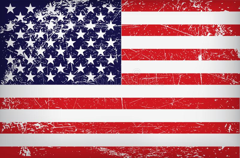 Vector grunge flag of the united states of america stock illustration