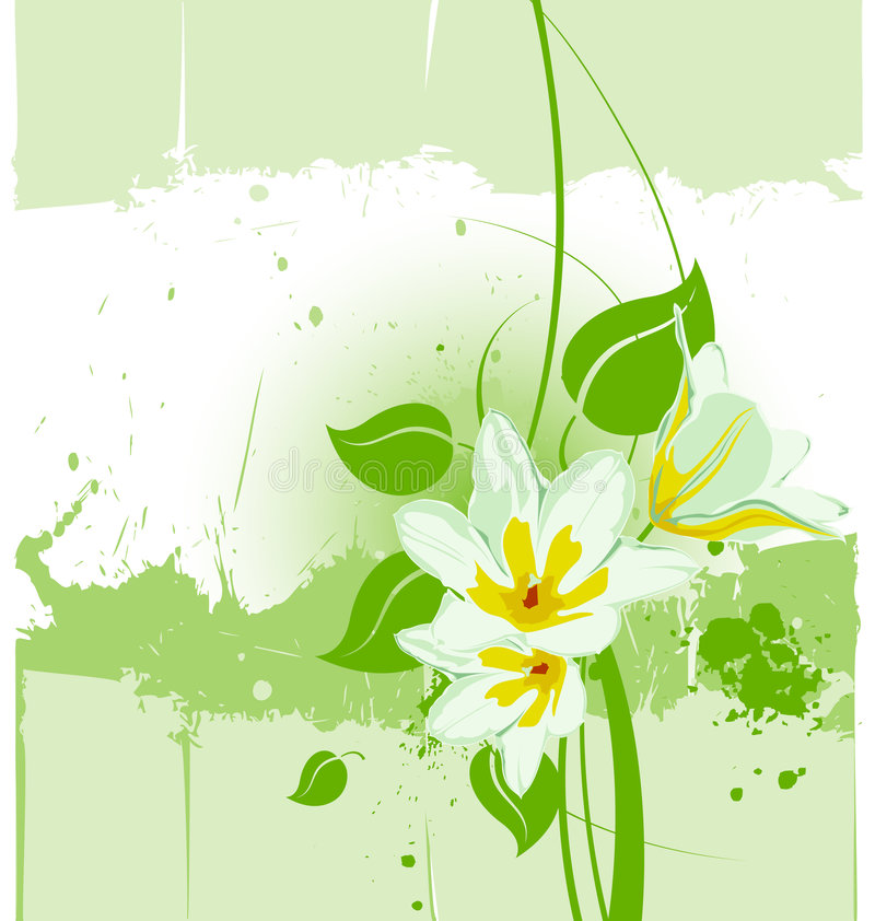 Free Vector Grunge Floral Backgroun Stock Photography - 5343802