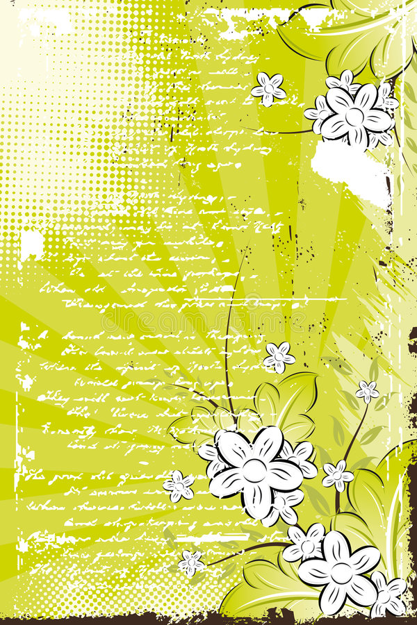 Vector grunge floral background royalty free stock images