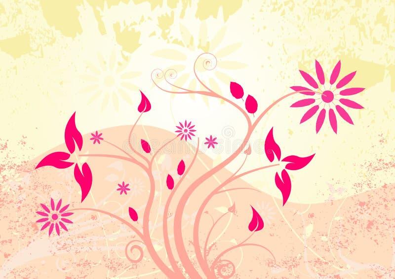 Vector grunge floral design royalty free illustration