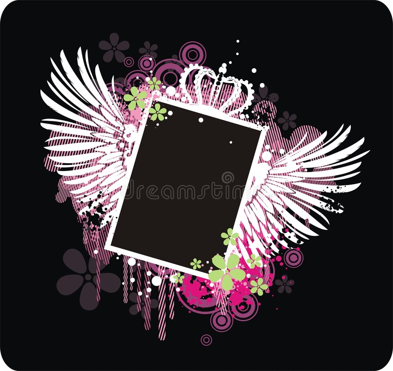Download Vector grunge frame stock vector. Image of beautiful, grunge - 5913871