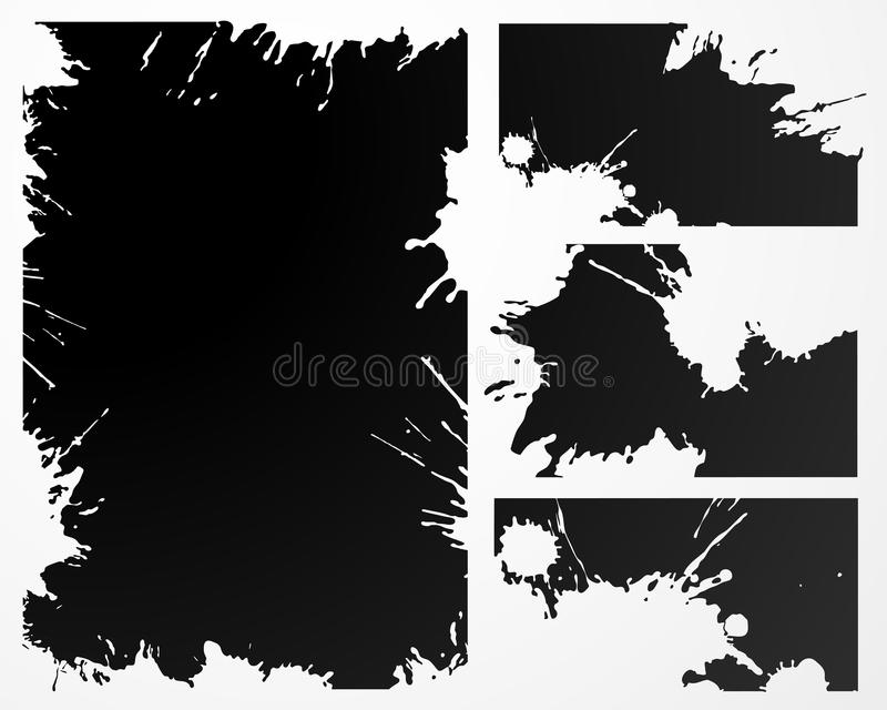 Vector grunge frame royalty free stock photography