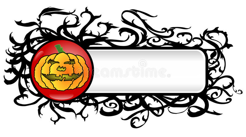 Vector Grunge Halloween Banner Royalty Free Stock Images