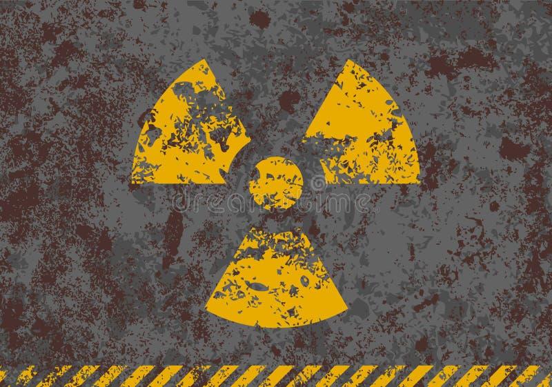 Download Vector Grunge Illustration Of Radiation Sign Stock Vector - Illustration of atom, nuclear: 23224262