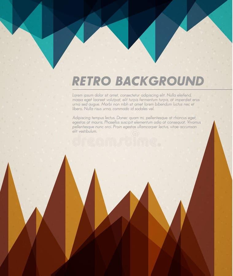Vector grunge retro achtergrond/malplaatje royalty-vrije illustratie