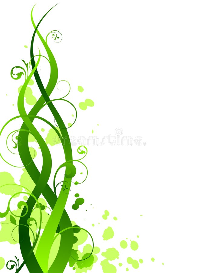 Vector grunge spring illustration. Spring vector illustration with floral motive on white background vector illustration