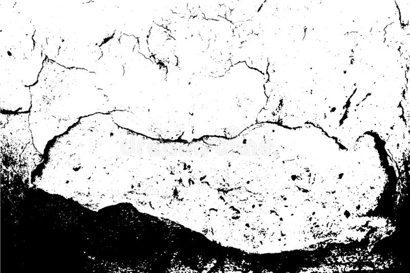 Vector grunge texture. Abstract background, wall surface with cracks. royalty free illustration