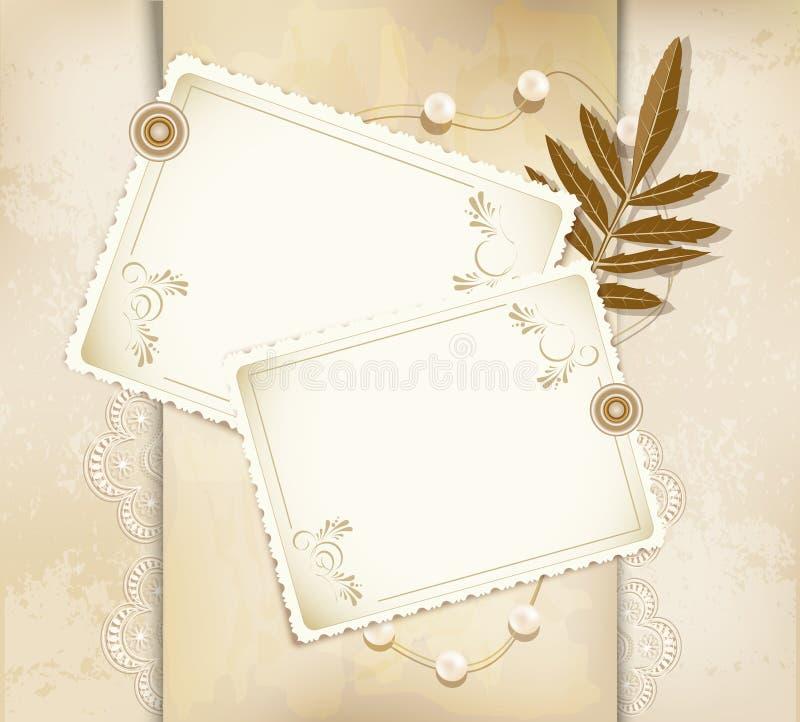 Vector grunge, vintage background, greeting card stock illustration
