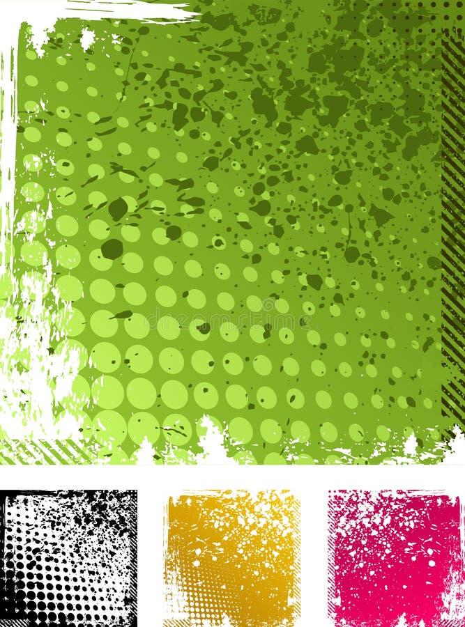 Vector grungeachtergronden vector illustratie