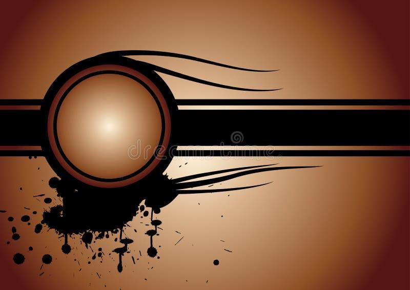 Vector grungeontwerp stock illustratie
