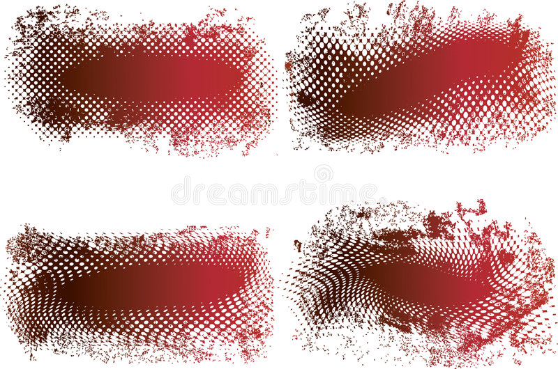 Download Vector Grungy Halftone Banners Stock Vector - Image: 4748367