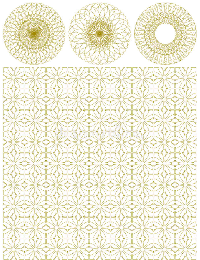 Vector guilloche backgrounds royalty free illustration