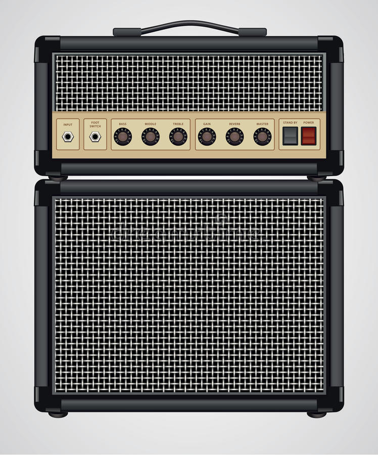Free Vector Guitar Amplifier Royalty Free Stock Photography - 17659727
