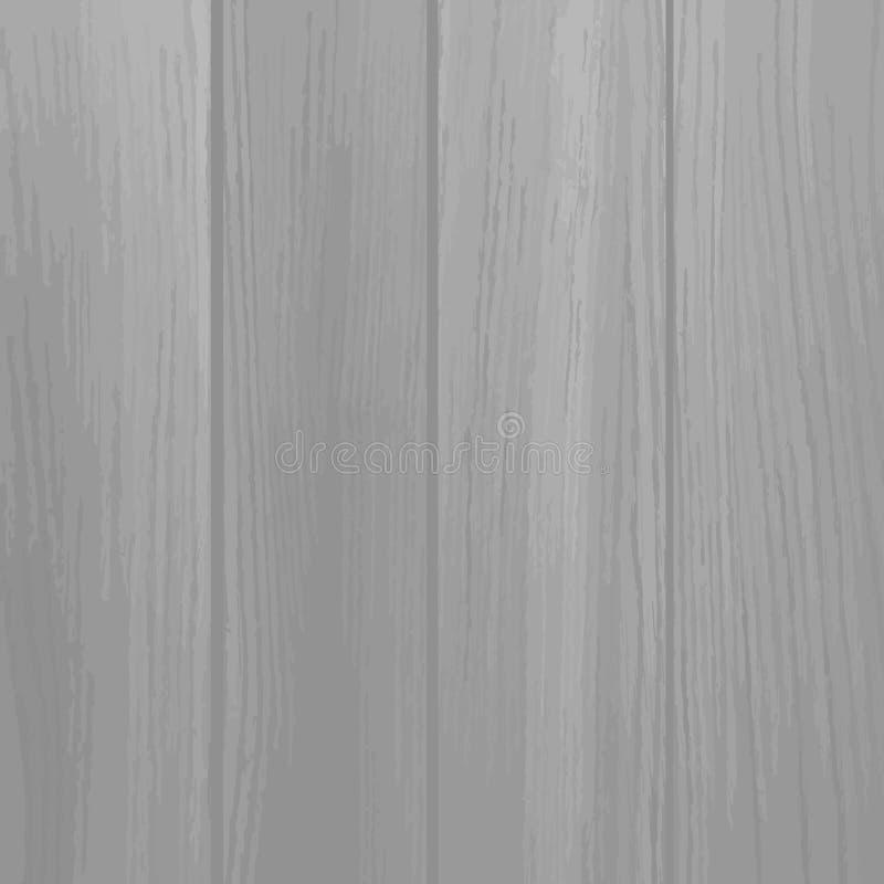 Vector hölzerne Beschaffenheit alte Platten des Hintergrundes, graue Farbe, stock abbildung