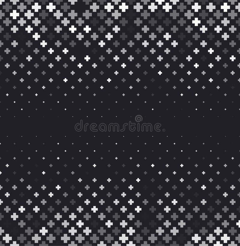 Free Vector Halftone Abstract Background, Black White Gradient Gradation. Geometric Mosaic Hexagon Shapes Monochrome Pattern Royalty Free Stock Photos - 98812578