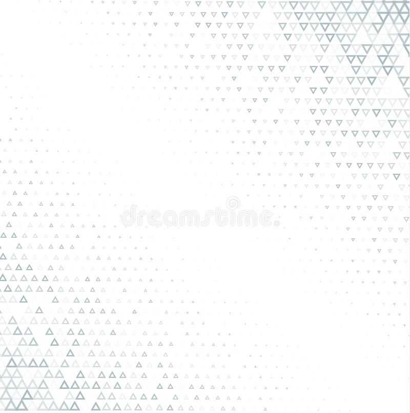 Vector halftone abstract background, grey white texture gradient gradation. Geometric mosaic triangle shapes monochrome. Pattern. Simple backdrop design royalty free illustration