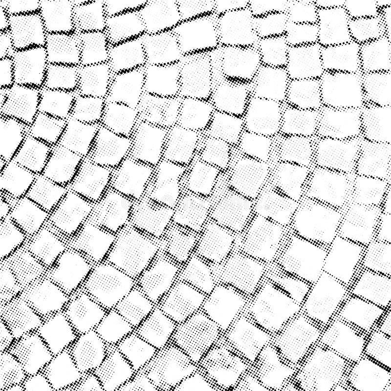 Vector halftone de textuurbekleding van het straatsteenpatroon vector illustratie