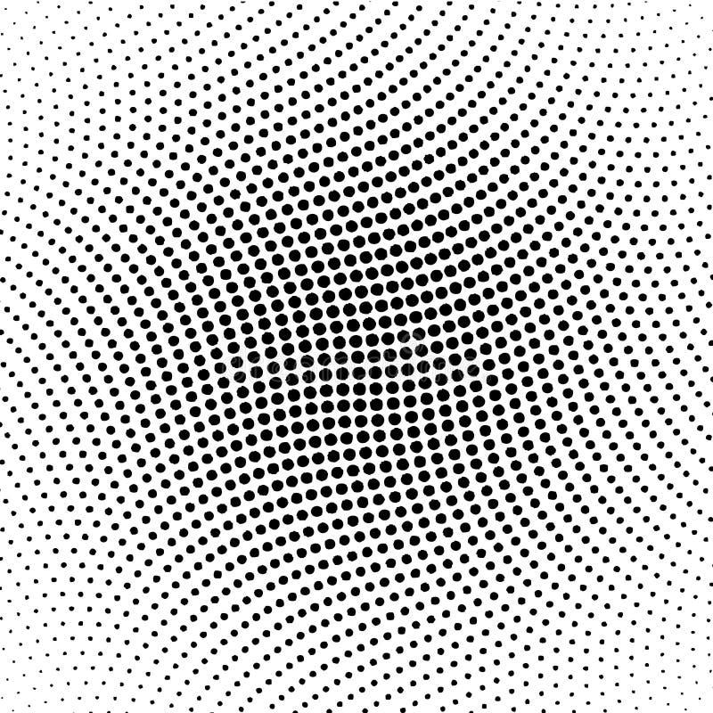 Vector halftone dots stock illustration