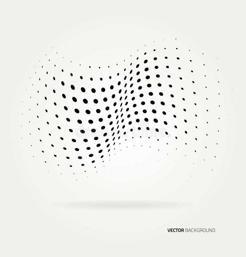 Vector halftone dots. stock illustration