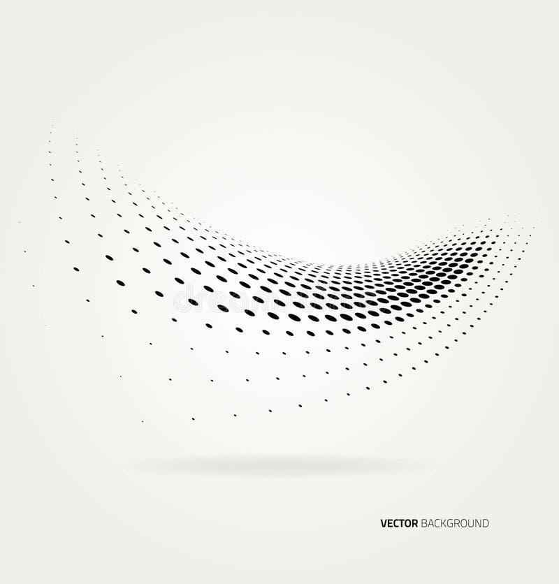 Vector halftone dots royalty free illustration