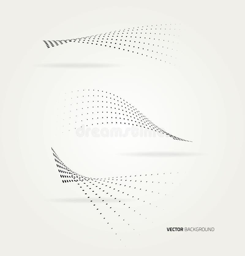 Vector halftone dots. royalty free illustration