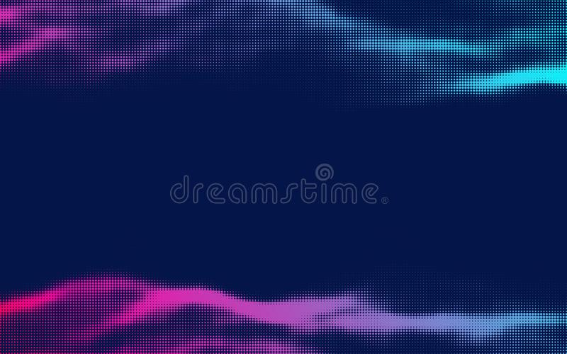 Vector halftone retro background. Pink blue halftone gradient,party poster background. royalty free stock photos