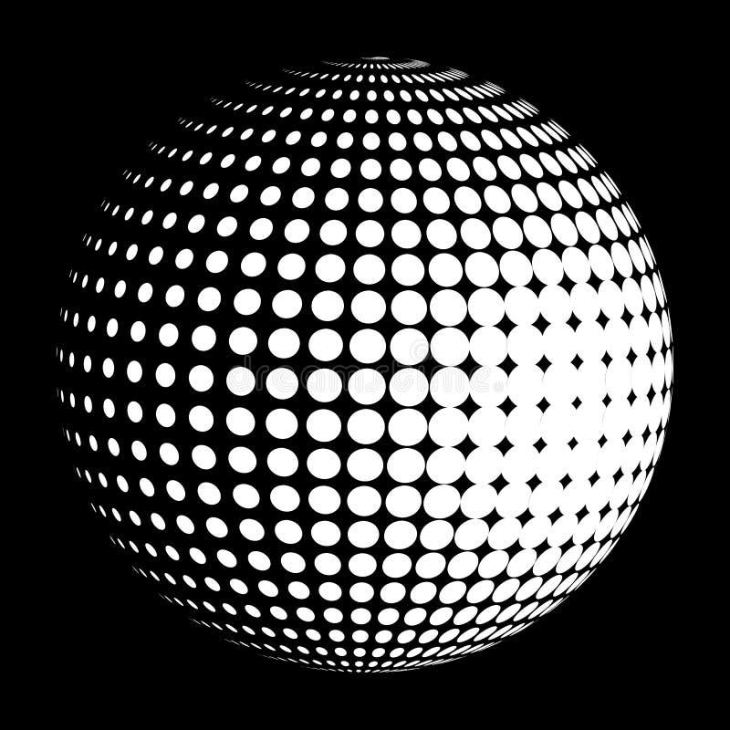 Vector halftone gebiedembleem stock illustratie