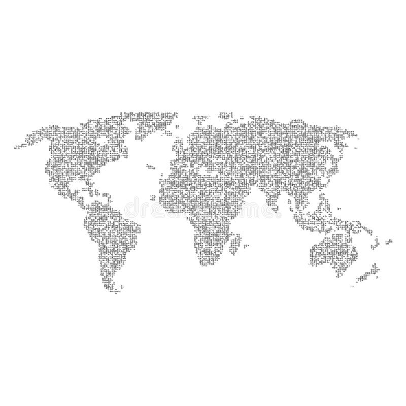 Vector halftone letters world map continents for your design stock download vector halftone letters world map continents for your design stock vector illustration gumiabroncs Images