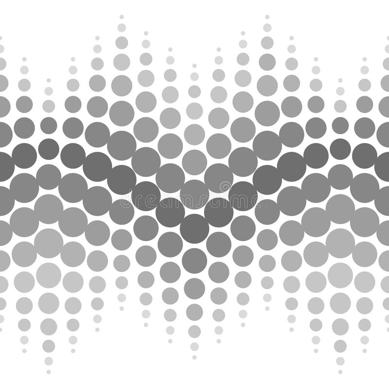 Vector halftone naadloos patroon Gestippelde samenvatting royalty-vrije illustratie