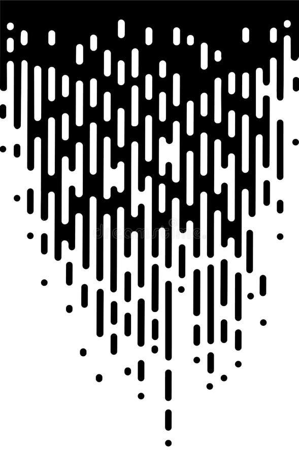 Vector Halftone Overgangs Abstract Behang Zwart-witte Onregelmatige Rond gemaakte Lijnenachtergrond voor modern vlak Web vector illustratie