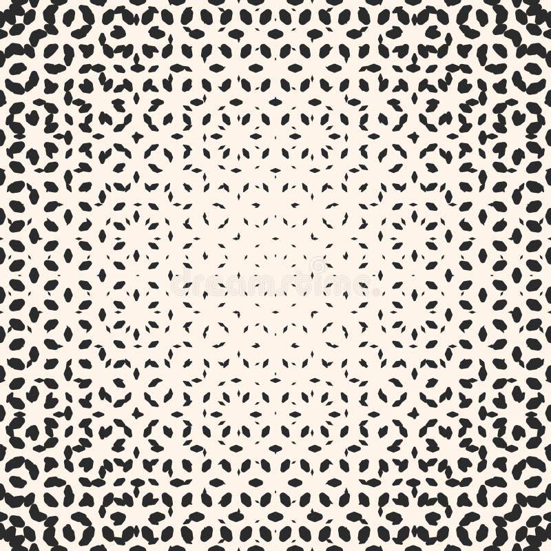 Vector halftone patroon, zwart-wit textuur met klein rond gemaakt s stock illustratie