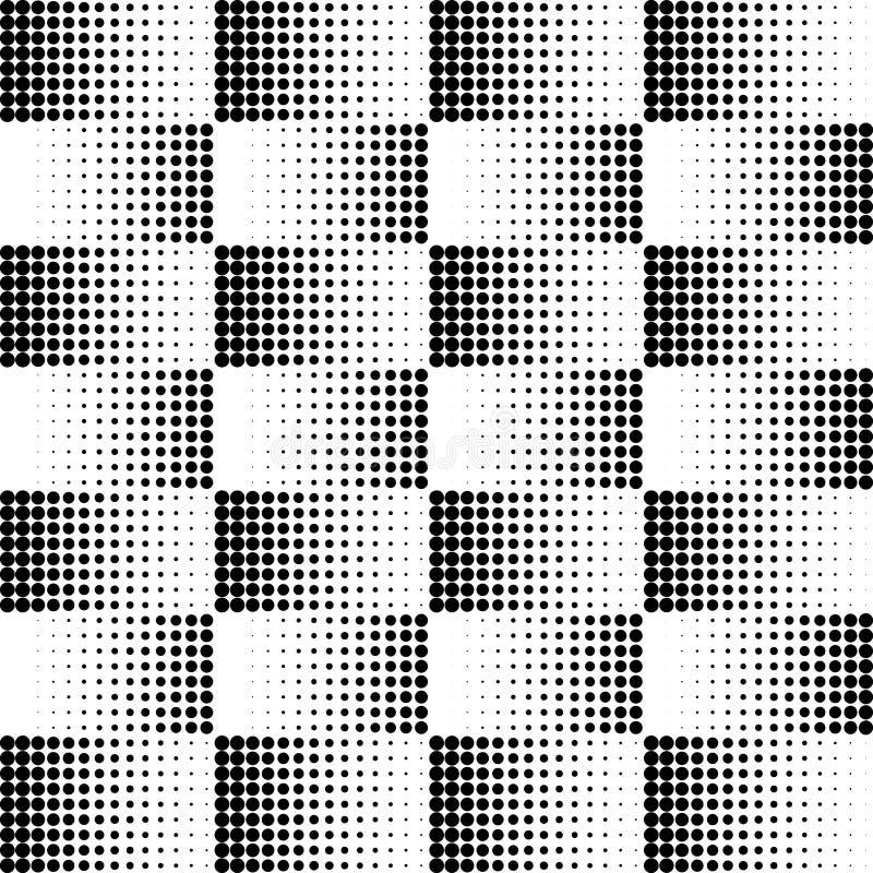 Vector halftone punten Zwarte punten op witte achtergrond textuurronde royalty-vrije illustratie