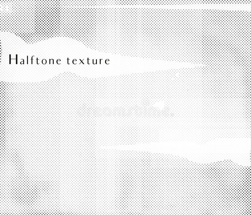 Vector halftone texture. Black dots on a white background royalty free illustration