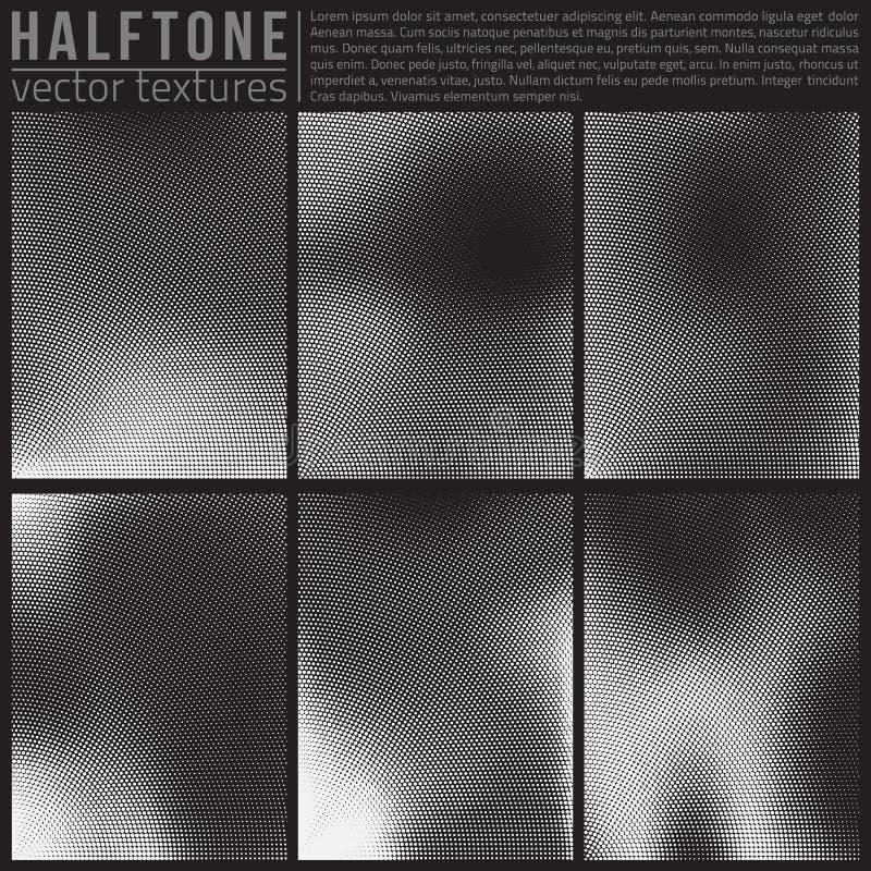 Vector Halftone Textures. Vector halphtone textures set. Analog halftone structure. Overlay vector abstract textures. Abstract vector background. Halftone vector vector illustration