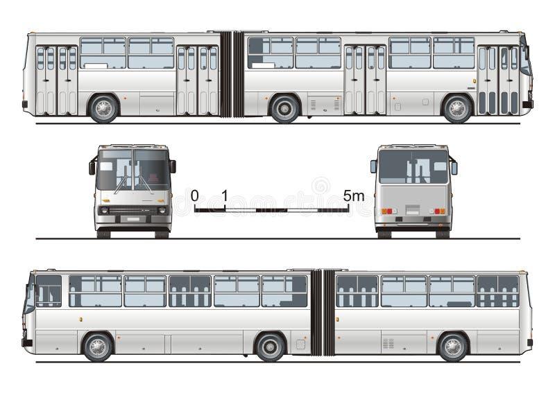 Vector hallo-hi-detailed stedelijke bus vector illustratie