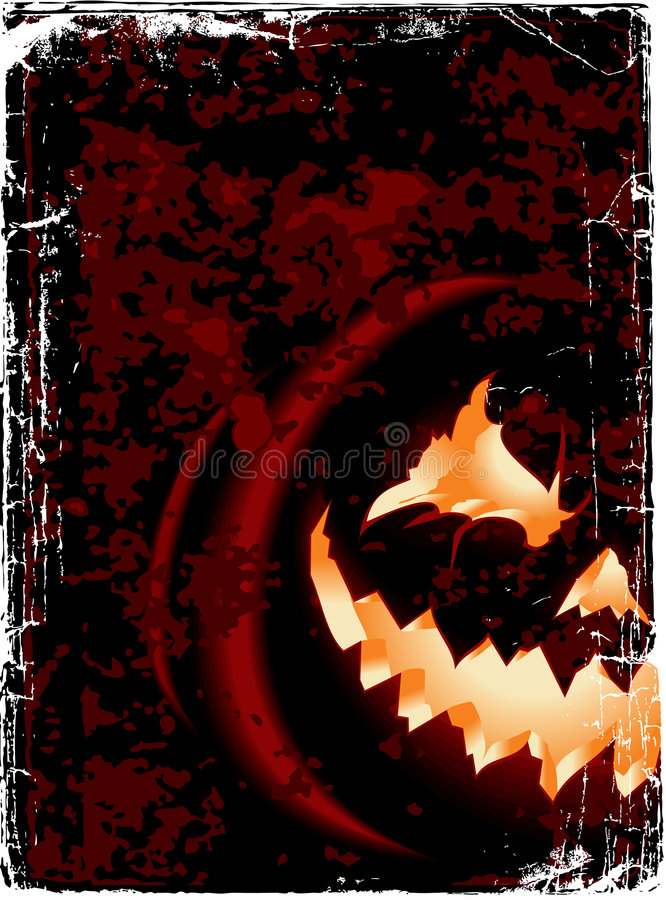 Vector. Halloween card royalty free stock photo