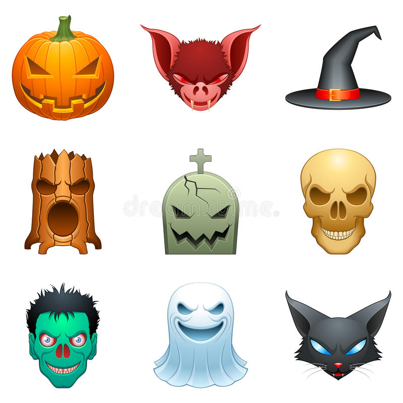 Free Vector Halloween Characters. Royalty Free Stock Photography - 10790437