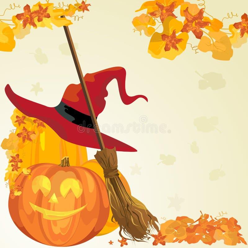 Vector Halloween Grens Royalty-vrije Stock Foto's