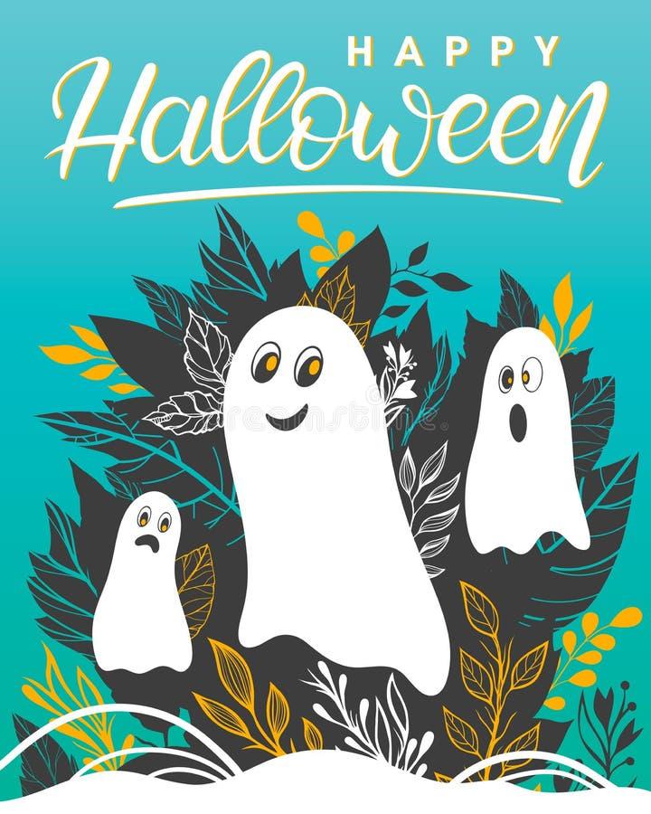 Vector Halloween illustration. vector illustration