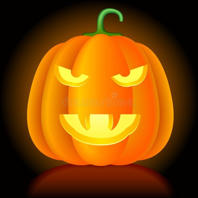 Vector Halloween pompoen. stock illustratie