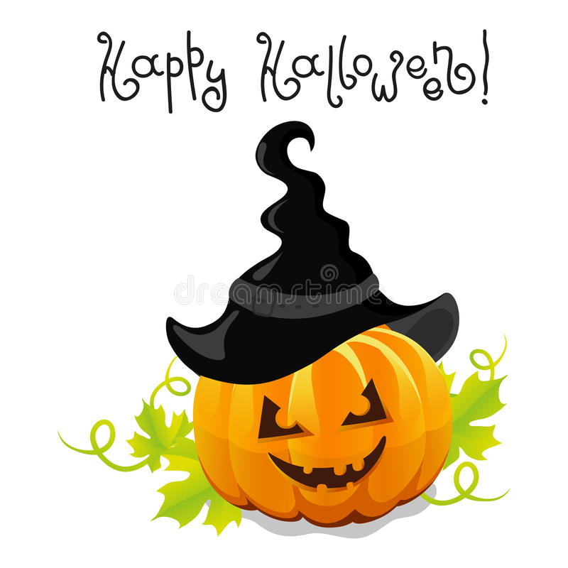 Free Vector Halloween Pumpkin With Hat Royalty Free Stock Photo - 33424525