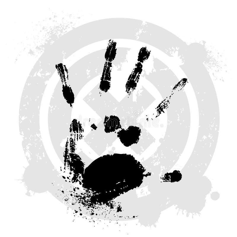 Vector hand royalty-vrije stock foto