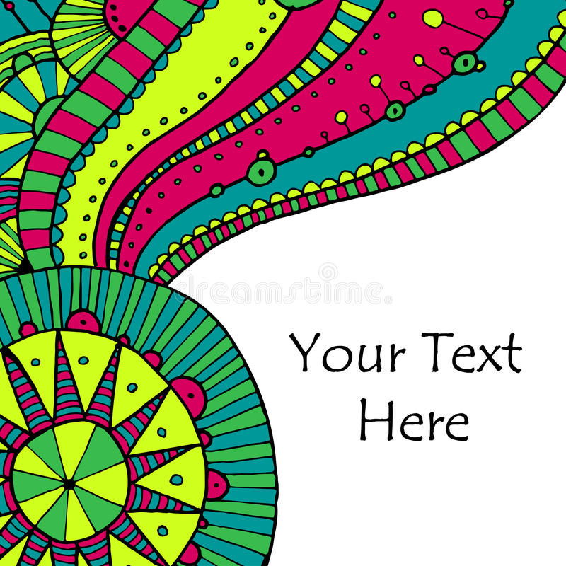 Vector hand draw ethnic background royalty free illustration