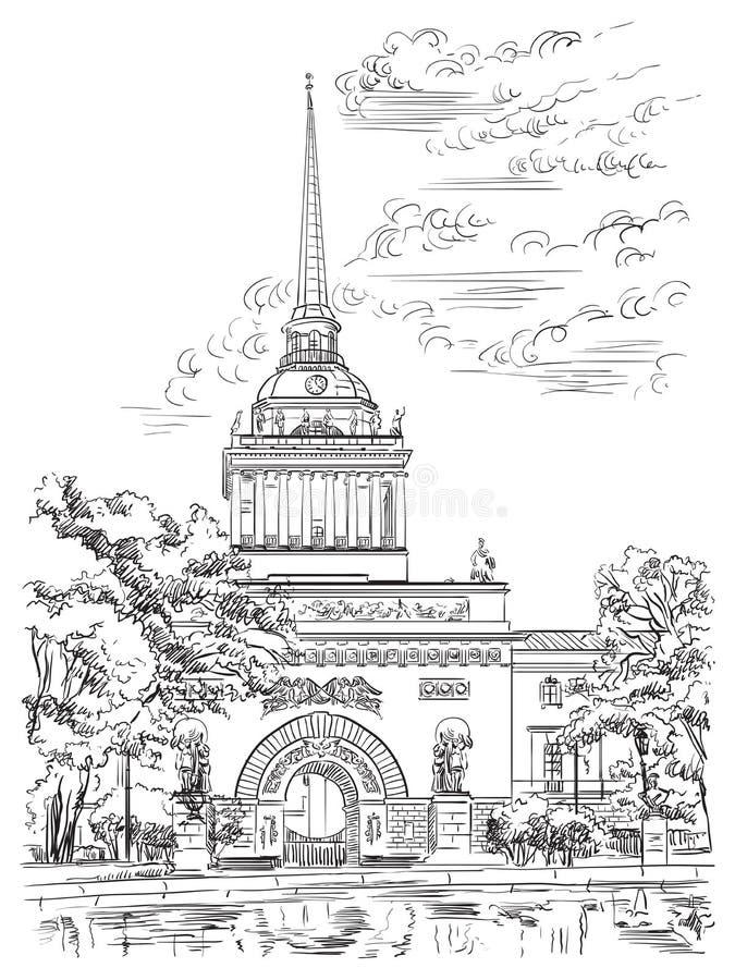 Vector hand drawing ST Petersburg 2 vector illustration