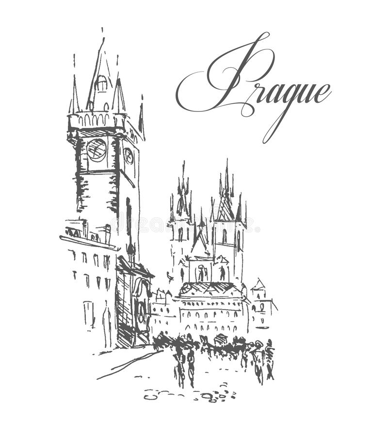 Download Vector Hand Drawn City Sketches Stock